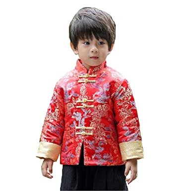 9723a13021 Amazon.com: Hooyi Winter Boy Quilted Jacket Children Dragon and ...