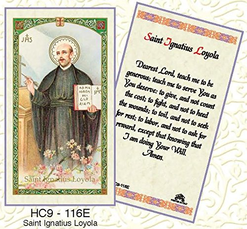- St. Ignatius Loyola Paper Prayer Cards - Pack of 100 - HC9-116E-L