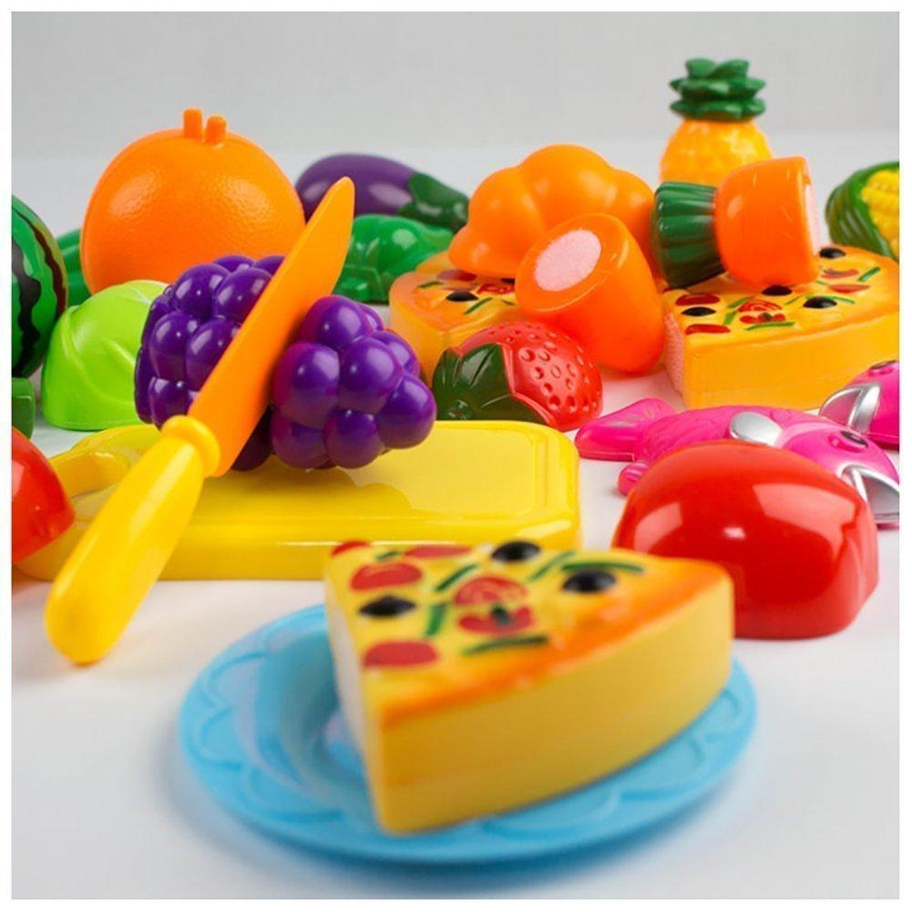 Leisial Gemüse 24 Stücke/Set kinder Schneiden Gemüse Frucht ...