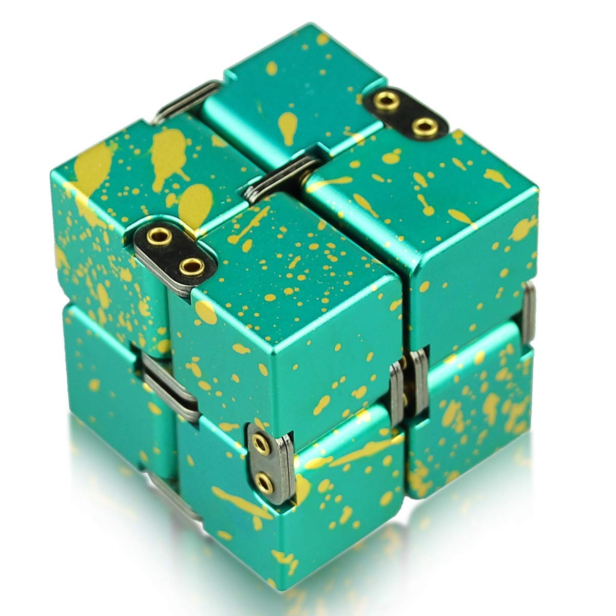 HELESIN Infinity Cube Fidget Toys Relaxation Office Stress Reducers for ADD, ADHD, Anxiety, Autism Adult & Kids, Aluminium Alloy, Camouflage by HELESIN (Image #1)