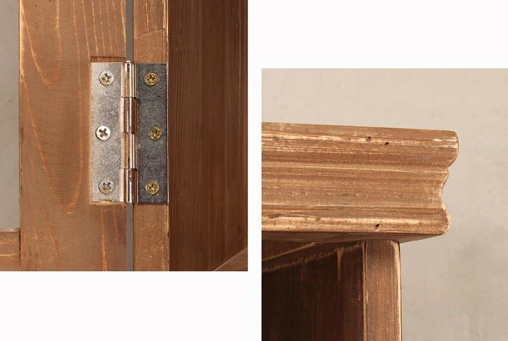 Amazon.com: COAT RACK Vintage Solid Wood Closet Wrought Iron ...