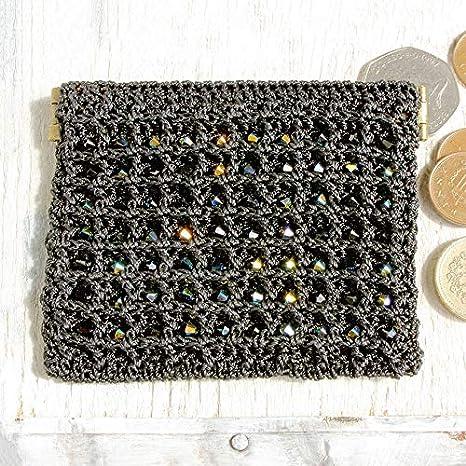 Dorothy Wood - Monedero de ganchillo, color negro: Amazon.es ...
