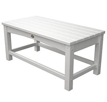Trex Outdoor Furniture Rockport Club Coffee Table, Classic White