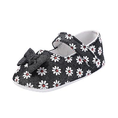 f56e003829159 Amazon.com: Baby Sneakers Girls, Amiley Flowers Single Crib Shoes ...