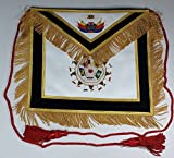 Hand Embroidered Masonic SCOTTISH RITE 32nd Degree Apron Master of Royal Secret