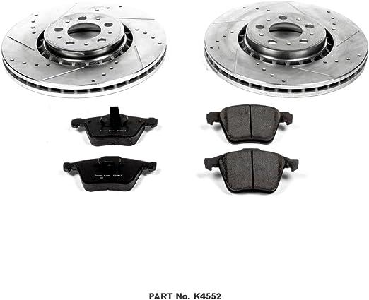 Power Stop K4552 Front Brake Kit with Drilled//Slotted Brake Rotors and Z23 Evolution Ceramic Brake Pads