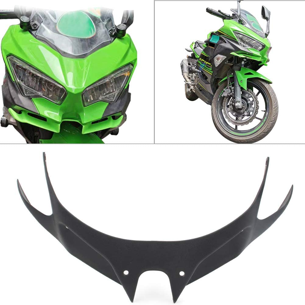 GZYF Motorcycle Front Fairing Aerodynamic Winglet Compatible with Kawasaki Ninja 250 400 2018-2019, Black