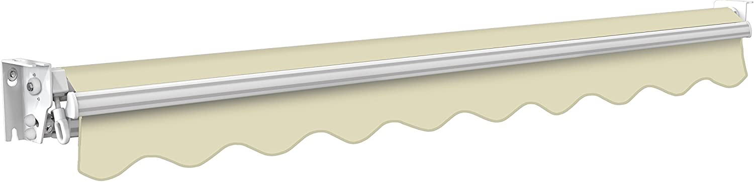 Primrose 3.5m Manual Awning Ivory Kensington DIY Patio Awning Gazebo Canopy Complete with Fittings and Winder Handle