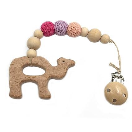 Coskiss Bebé chupete clip de madera Camello Mordedor Eco ...