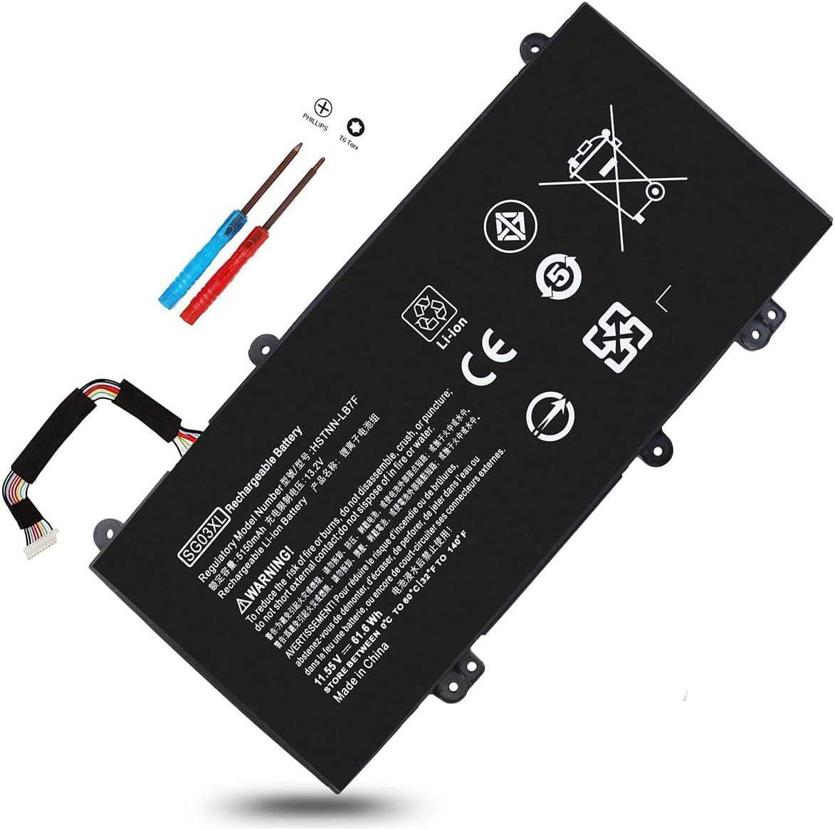 SG03XL 849048-421 11.55V 61.6Wh Battery for HP ENVY M7-U109DX M7-U009DX 17T-U100 17-U163CL 17-U273CL 17-U175NR,849314-850 849314-856 849315-850 HSTNN-LB7E,17-U177CL 17-U011NR 17-U110NR,M7-U 17-U 17T-U