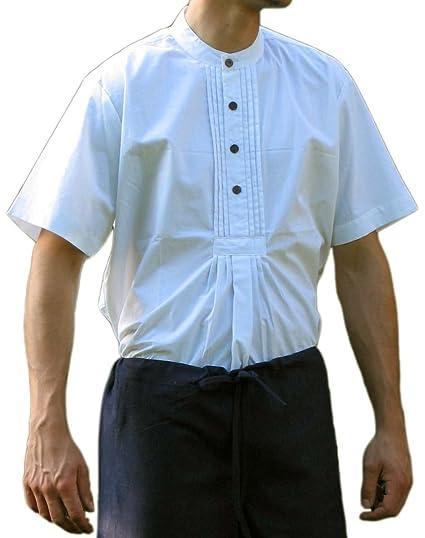 HEMAD/Billy Held - Camisa - Básico - Cuello Mao - Manga 3/4 - para Hombre: Amazon.es: Ropa y accesorios