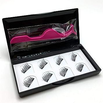 ea424d43662 8 Pieces/Set Magnetic Lashes Fake Eyelash Invisible Mink Eyelashes With Tweezers  Mink Lashes Thick