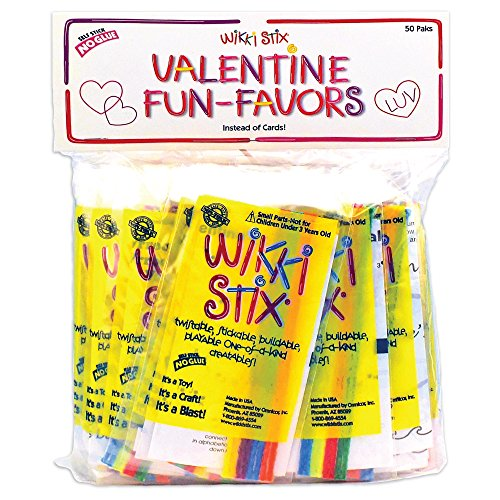 Wikki Stix Valentine Fun Favors, Pack of 50 Molding & Sculpting Sticks for $<!--$22.95-->