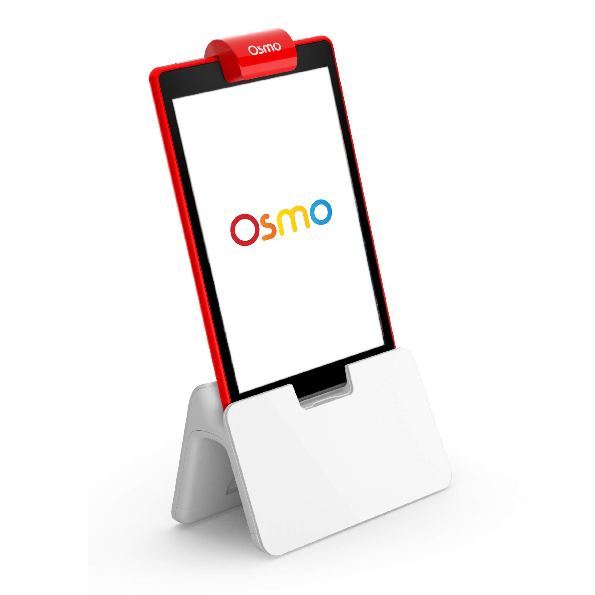 Osmo - Base - 2 Hands-On Learning Games - Creative Drawing & Problem Solving/Early Physics - For Fire Tablet (Osmo Fire Tablet Base Included), White/Red