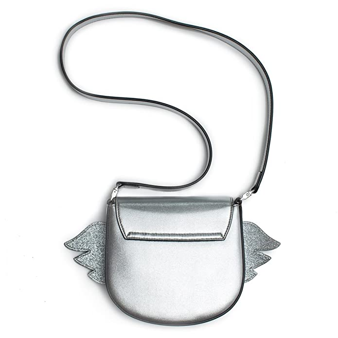 a4a61ecf8 Amazon.com: Gucci Kids Metallic Silver Heart Wing Authentic New Bag: Shoes