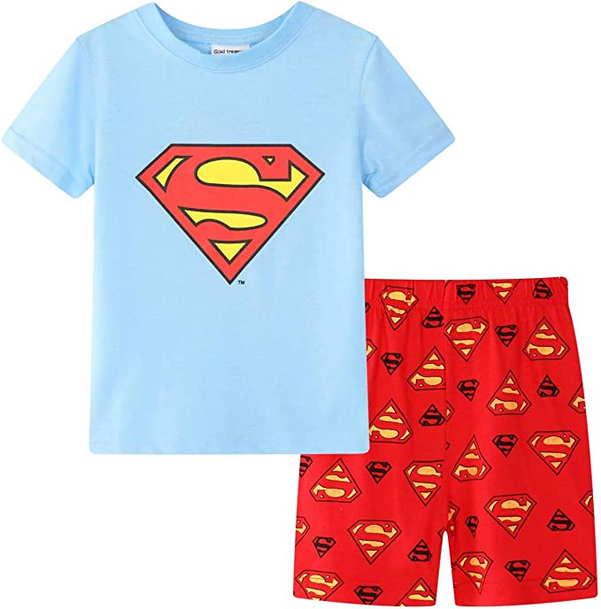 Boys Childrens Superman Pyjamas Pjs Pajamas Nightwear Sleepwear Gift