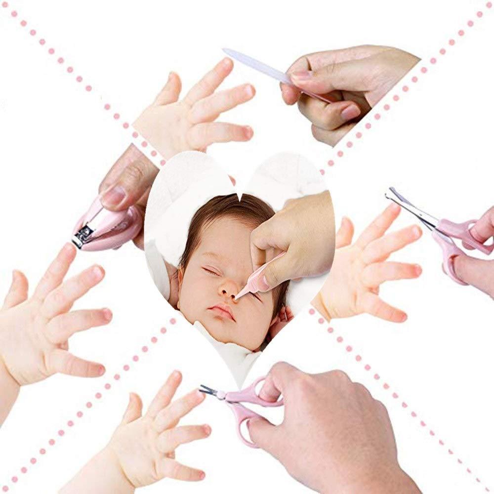 Nagelfeile und Pinzette,Safe Portable f/ür Kinder Rot Nagelknipser CICADAS Baby Nagelknipser Set mit 2 Sicherheitsschere Neugeborene Kleinkinder,5 in 1