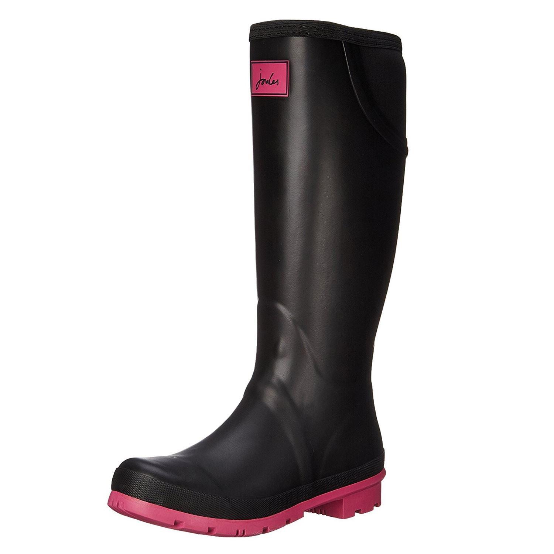 Joules Women's Neola Rain Boot, Black, 8 M US