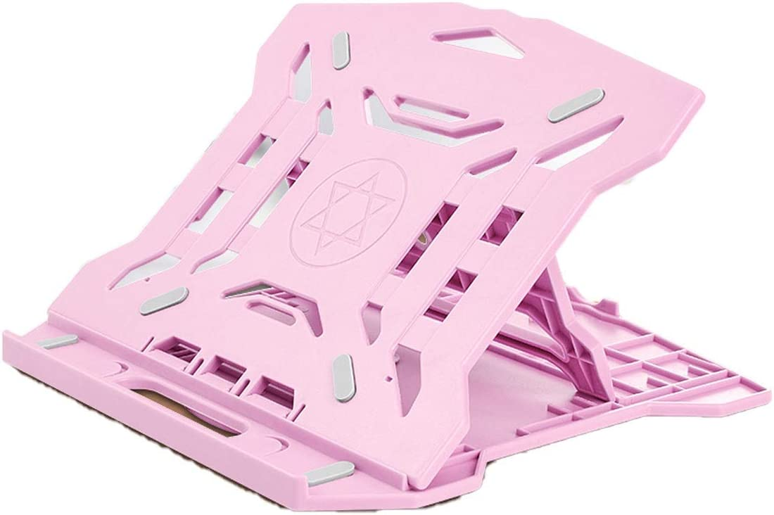 Color : Pink Desktop Office Computer Lift Portable Bracket XIONGHAIZI Laptop Stand Pink Products Green Radiator Shelf White Black Rotatable Computer Stand