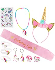 Set of Unicorn Birthday Party Supplies Kids Happy Birthday Party Favors