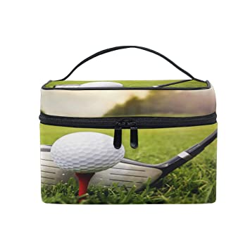 05f8d59275d7 Amazon.com : XMCL Golf Ball Portable Cosmetic Bag Makeup Organizer ...