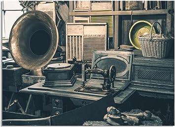 deinebilder24 - Cuadro XXL Vintage Retro de grafo, máquina de ...