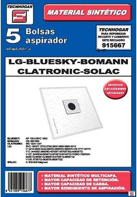Tecnhogar 915667 Bolsa aspirador, Blanco: Amazon.es: Hogar