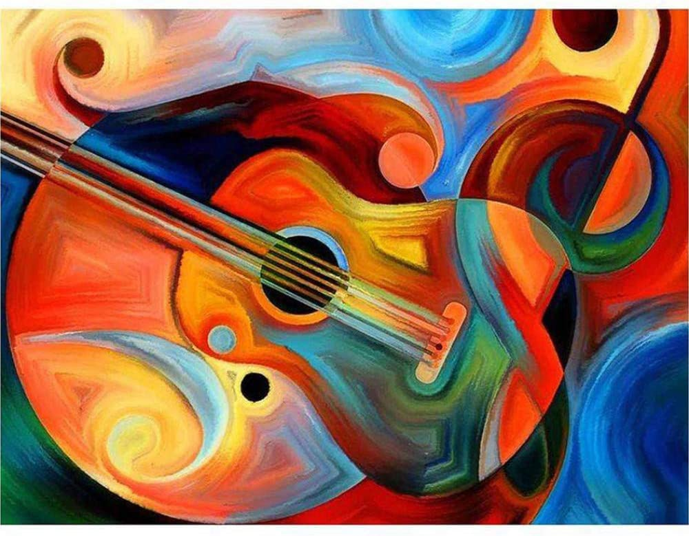 Guitarra Música Diy Taladro Completo Pintura Diamante Para La ...