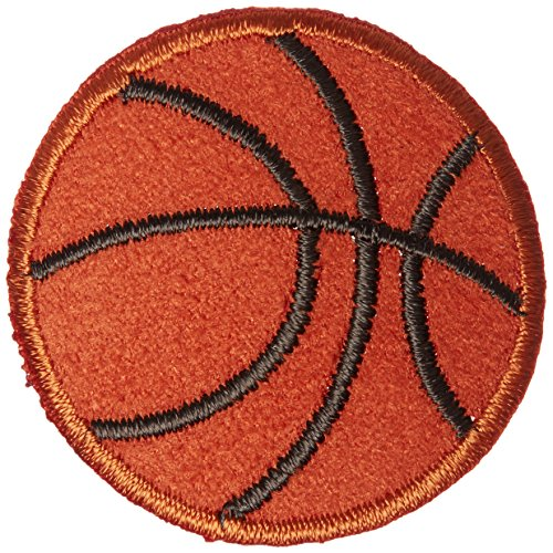 Basketball Applique (Wrights Iron-On Appliques-Basketball 1-1/2
