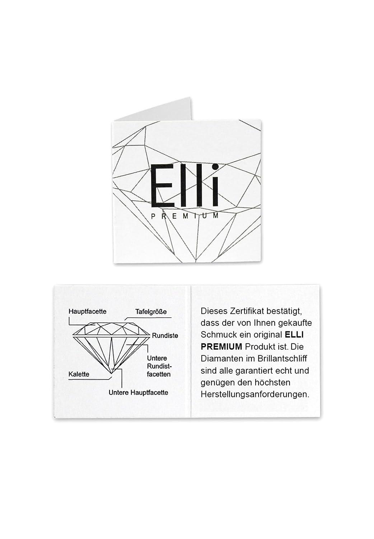 Tauf-Ring Elli Premium K/örperschmuck Diamant 585 Gelbgold