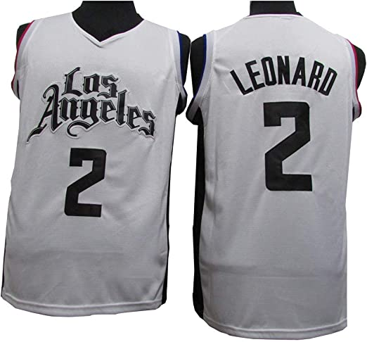 CCKWX Baloncesto Masculino Jersey-Los Angeles Clippers # 2 Leonard ...