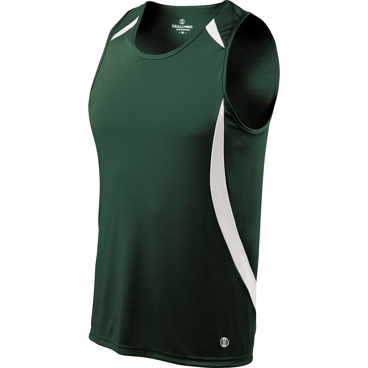 Holloway Youth Sprinter Singlet M Forest/White