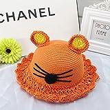 ZHANGRONG- Sombrero de paja de verano Sombrero de sol de los niños Tejido a  mano e6965ef05b3
