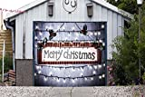 Merry Christmas for SINGLE CAR GARAGE DOOR MURALS Covers Outdoor Decor Billboard Full Color 3D Effect Print Decorations of House Garage Holiday Banner Door Cover Size 83 x 96 inches DAV119