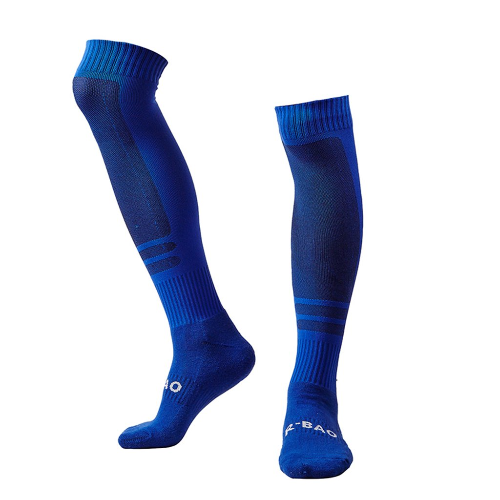 Royal Blue Soccer Socks Women Adult Mens Soccer Stocking by Guumor
