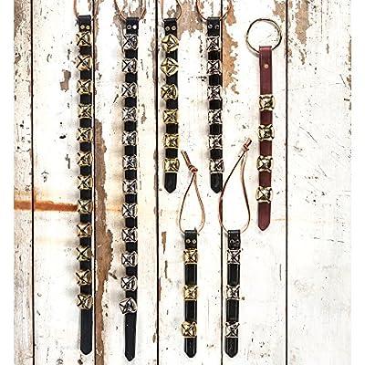 Weaver Arctic Sleigh Bell Door Hanger - No. of Bells:6 Bells Metal Plate:Nickel