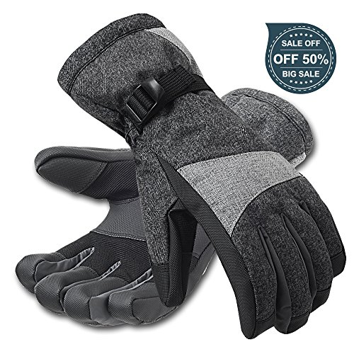 MUSAN Winter Ski Gloves, 2017 Exclusive Design, Waterproof Windproof Thinsulate Thermal Warm, Outdoor Snow Skiing /Snowboard Gloves for Men and Women