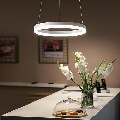LED Luces colgantes 24W Creativo Redondo Anillo Diseño ...