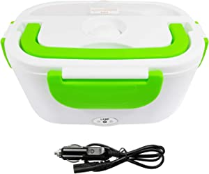 12V Car Electric Lunch Box Meal Food Heater Warmer Container Bento | Green