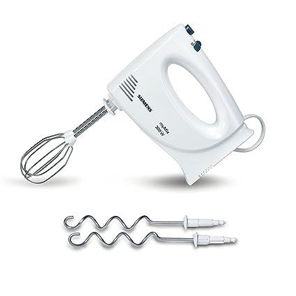 Hand mixer, 1.4 m, Beat, Mixing, Stirring, White, Metal, Plastic, 300 W Mixers Siemens MQ95020N Hand mixer 300W White mixer