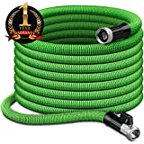 InGarden 25ft Expandable Garden Hose - Lightweight Kink Free Flexible Water Hose with Double Latex Core, 3/4