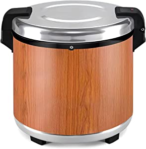 Rice Warmer Commercial Restaurant Food Warmer 6 Gallon (23 Liter) Large Insulated Thermal Food Container Electric Soup Kettle Warmer Soup Jar Wantjoin Commercial Rice Warmer Rice Cooker (Wood Grain