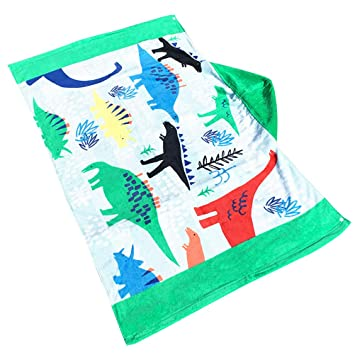 VORCOOL Toalla con Capucha Abrigo de Playa Niños Niños Poncho Grande Bañera Toalla de baño con Capucha Albornoz de Secado rápido (Dinosaurios): Amazon.es: ...