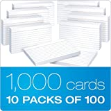 "Oxford Ruled Index Cards, 3"" x 5"" FXEJXu, White, 20 Packs of 100 (31EE)"