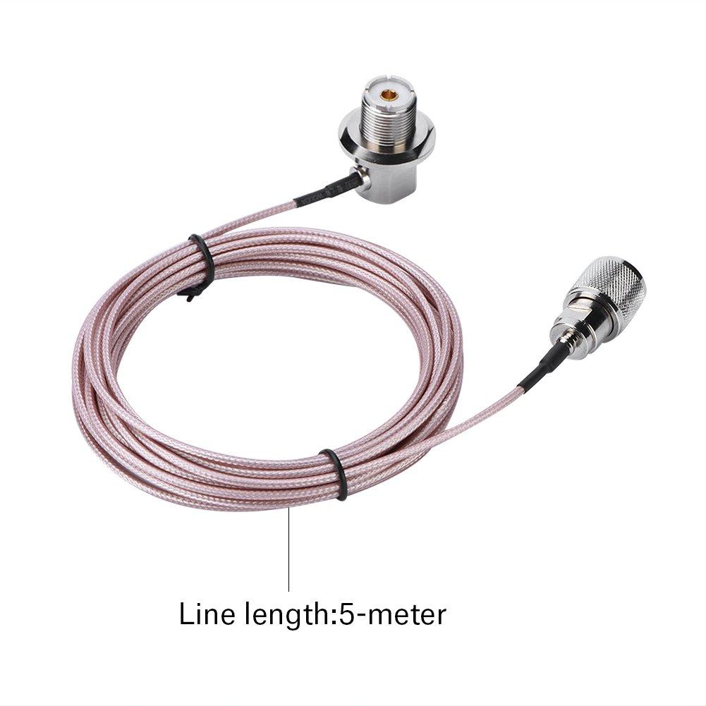 Zerone Cable de extensión de antena coaxial UHF PL-259 macho ...
