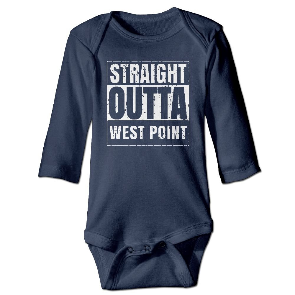 NEWBABY Straight Outta West Point Baby Long Sleeves Clothes For 6-24m Baby