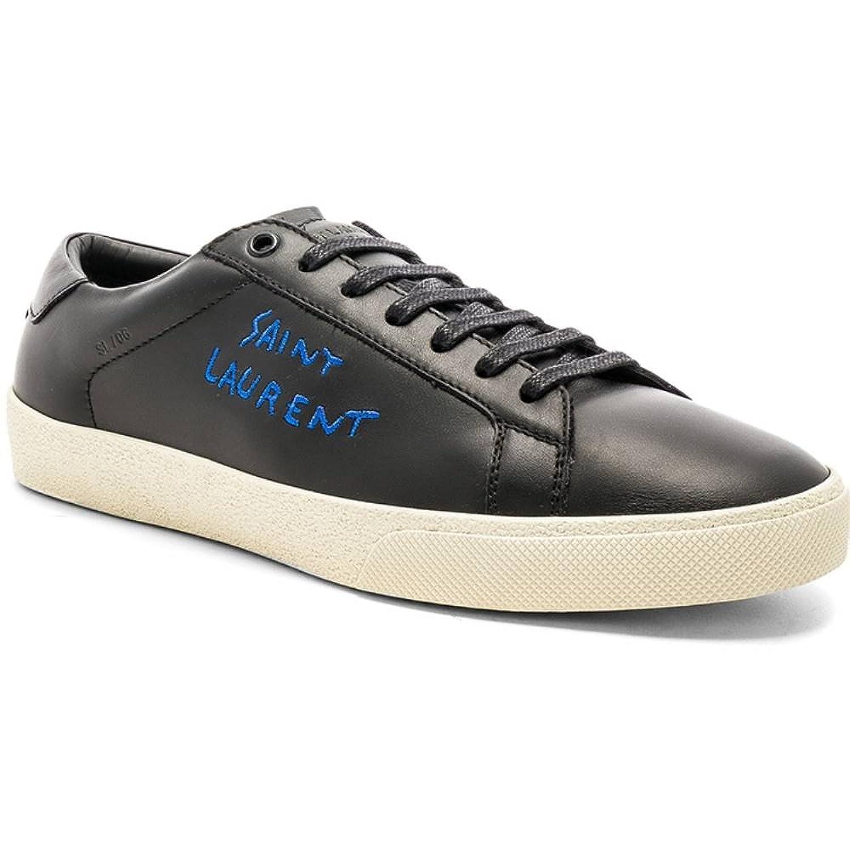 (イヴ サンローラン) Saint Laurent メンズ シューズ靴 スニーカー Leather SL/06 Court Classic [並行輸入品] B07F7HGB38