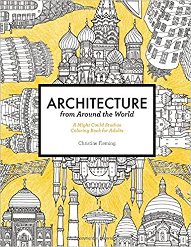 Book Architecture from Around the World: A Might Could Studios Coloring Book for Adults