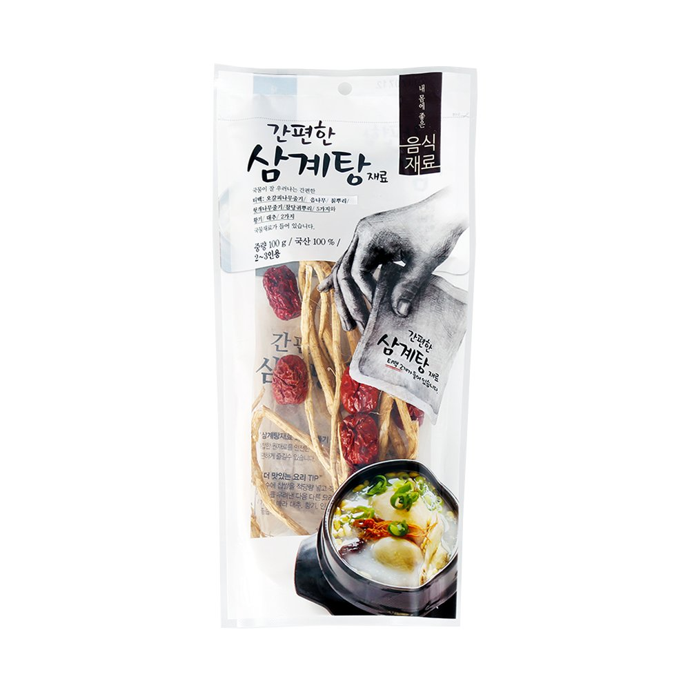 HaesongKNS Convenient Ginseng Chicken Soup material - contains Convenient Tea Bag and Soup Ingredients for Traditional Korean Food, 100g