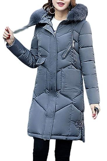 Femme Hiver Parka Grande Taille Chaud Doudoune Manteau avec